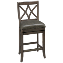 American Heritage Billiards Sarsetta Pub Quest Swivel Counter Stool