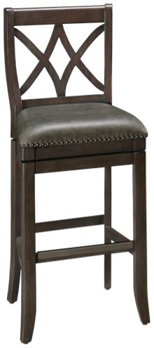 American Heritage Billiards Sarsetta Pub Quest Swivel Bar Stool