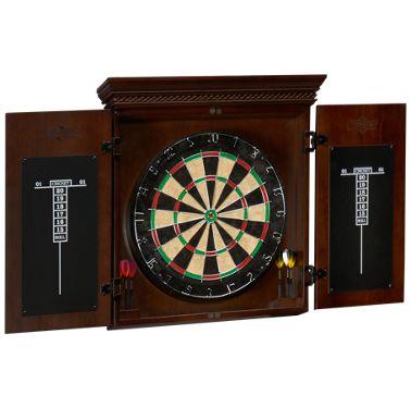 American Heritage Billiards Cavalier Dartboard And Cabinet