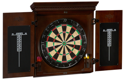 American Heritage Billiards Cavalier Dartboard And Cabinet