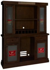 East Coast Innovators Miller High Life Bar Cabinet and Hutch