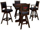 East Coast Innovators Miller High Life 5 Piece Game Table Set