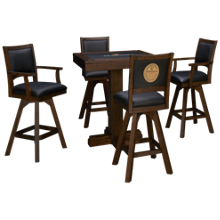 East Coast Innovators Guinness 5 Piece High Top Game Table Set