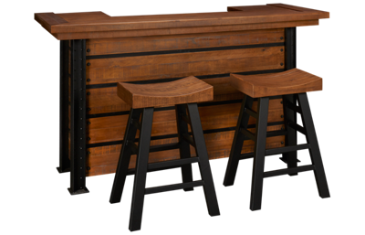 American Heritage Billiards Gateway Bar With 2 Saddle