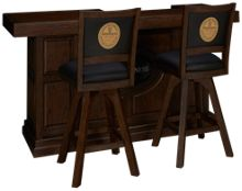 "East Coast Innovators Guinness 82"" Bar With 2 Armless Swivel Bar Stools"
