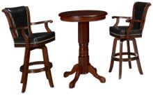 American Heritage Billiards Larosa Pub Table And 2 Swivel Stools