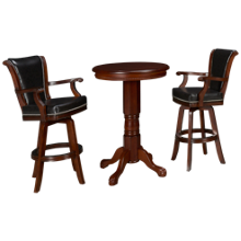 American Heritage Billiards Larosa Pub Table And 2 Swivel Stools