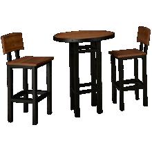 American Heritage Billiards Gateway Pub Table And 2 Bar Stools