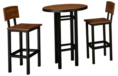 American Heritage Billiards Gateway Pub Table And 2 Bar Stools