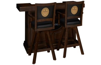 "East Coast Innovators  Guinness 65"" Bar With 2 Swivel Armchair Bar Stools"