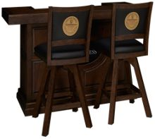 "East Coast Innovators  Guinness 65"" Bar With 2 Armless Swivel Bar Stools"