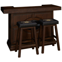 "East Coast Innovators  Guinness 65"" Bar With 2 Saddle Bar Stools"