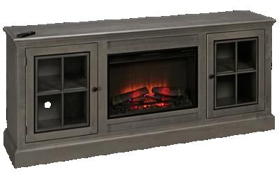 """Aspen Churchill 76"""" 2 Door Fireplace Console"""
