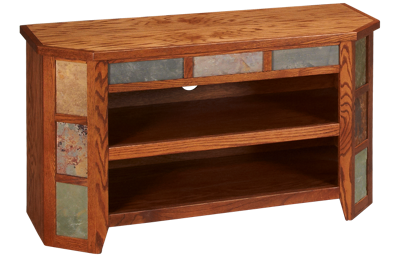 "Legends Furniture Oak Creek 42"" Angled Console"