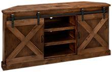 "Legends Furniture Farmhouse 66"" Corner Console"