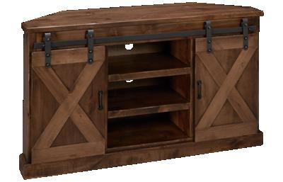 "Legends Furniture Farmhouse 56"" Corner Console"