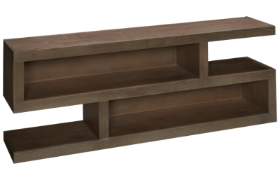 "Aspen Contemporary Driftwood 74"" S Console"