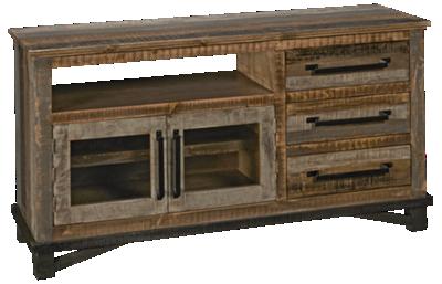 International Furniture Direct Loft Brown 2 Door, 3 Drawer Media Console