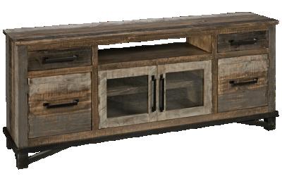 International Furniture Direct Loft Brown 2 Drawer, 4 Door Media Console