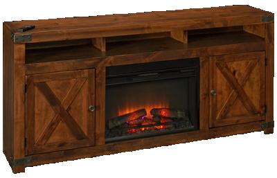 """Aspen Urban Farmhouse 72"""" Fireplace Console"""