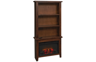 "Aspen Alder Grove 72"" Fireplace Display Case"