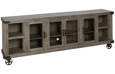 "Aspen Industrial 96"" Console with 4 Doors"