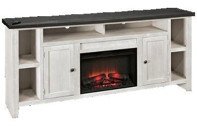 "Aspen Eastport 84"" 2 Door Fireplace Console"