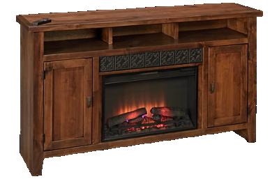 """Aspen Alder Grove 63"""" Fireplace Console"""