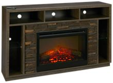 Dimplex Joseph Fireplace Media Console with Log Firebox and LED