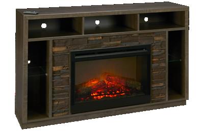 Dimplex Joseph Fireplace Media Console with Log Firebox