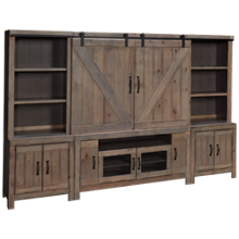 Oak Furniture West Devonshire 5 Piece Entertainment Center