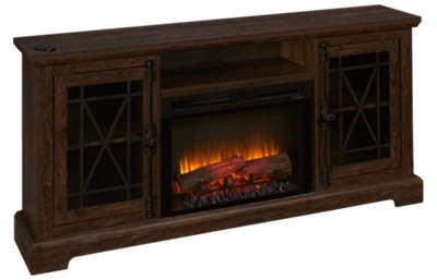 Dimplex Natalie Fireplace Media Console with Log Firebox