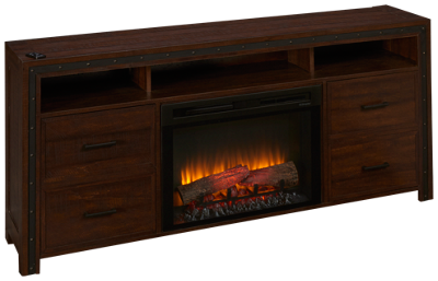 Dimplex Thom Fireplace Media Console with Log Firebox
