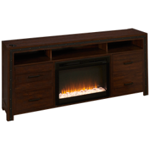 Dimplex Thom Fireplace Media Console with Ember Firebox