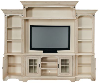Oak Furniture West Antique White Oak Furniture West Antique White 5 Piece  Entertainment Center   Jordanu0027s Furniture