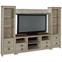 Ashley Willowton 4 Piece Entertainment Center