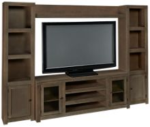 Aspen Contemporary Driftwood 4 Piece Entertainment Center