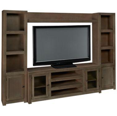 Aspen Contemporary Driftwood 4 Piece Entertainment Center Product Image Unavailable