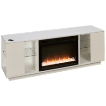 Dimplex Flex Lex Fireplace Media Console with Glass Ember Firebox