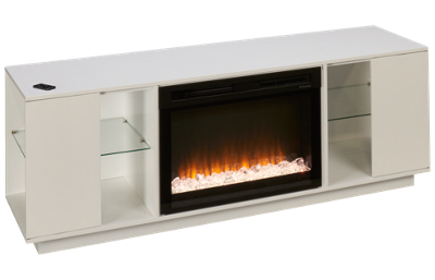 Dimplex Flex Lex Fireplace Media Console with Glass
