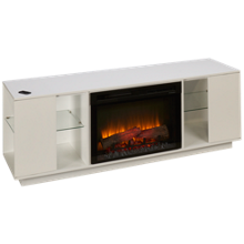 Dimplex Flex Lex Fireplace Media Console with Log Firebox