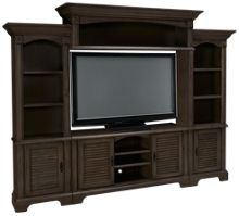Oak Furniture West Newport Grey 4 Piece Entertainment Center
