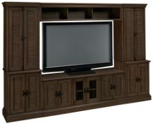Oak Furniture West Lancaster 6 Piece Entertainment Center