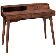 Coast To Coast Imports Brownstone 3 Drawer Desk