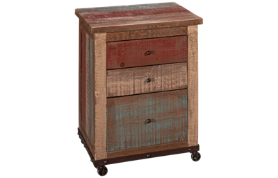 International Furniture Direct Multicolor 3 Drawer File Cabinet