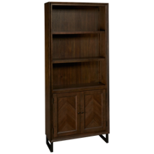 Aspen Harper's Point Bookcase with Doors