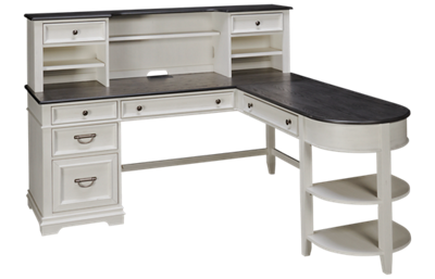 Liberty Furniture Allyson Park Desk with Hutch