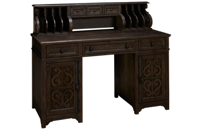 Magnussen Bellamy Counter Height Desk with Hutch