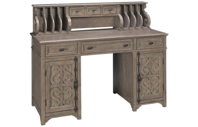 Magnussen Tinley Park Counter Height Desk with Hutch