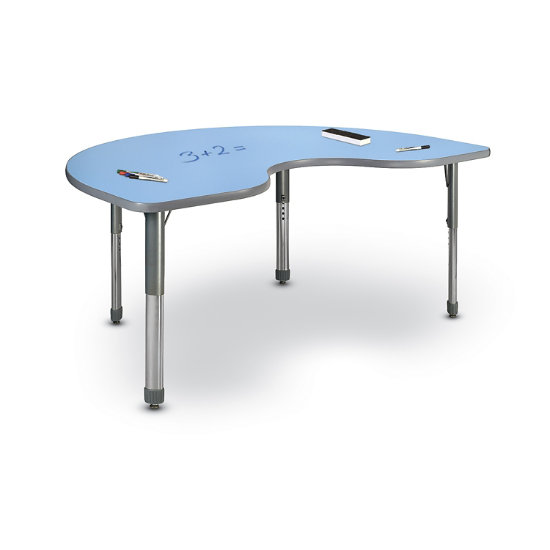 Action Kidney-Shaped Activity Table w/ Markerboard Top